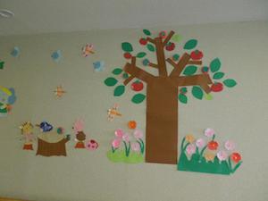小児科病棟の壁面飾り